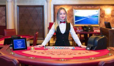 A live casino setup